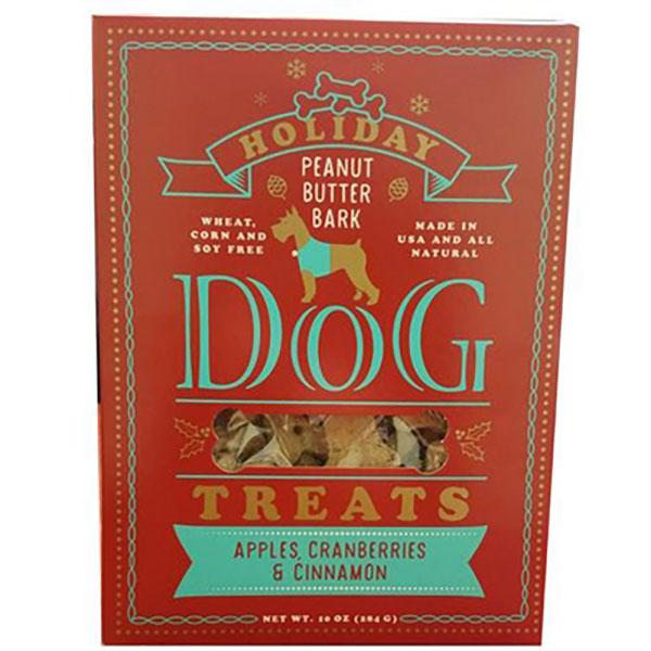 holiday peanut butter bark dog treats 10oz boxes woof gang products. Black Bedroom Furniture Sets. Home Design Ideas